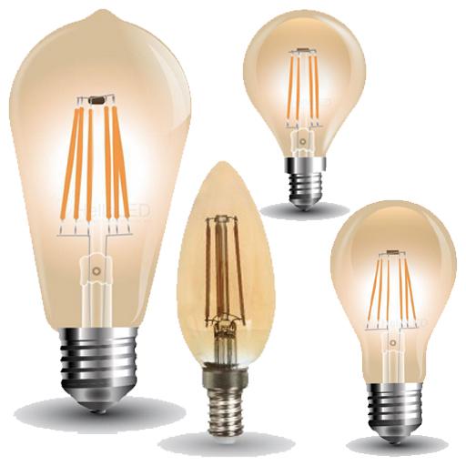LED Izzók - COG, filament, retro