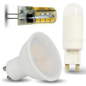 LED Spotlámpák: G4, G9, GU10, stb...
