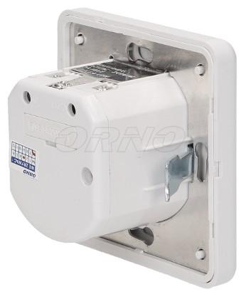 Konnektorba süllyeszthető mikrofonos mozgásérzékelős lámpa kapcsoló, fehér színben, beltéri kialakításban