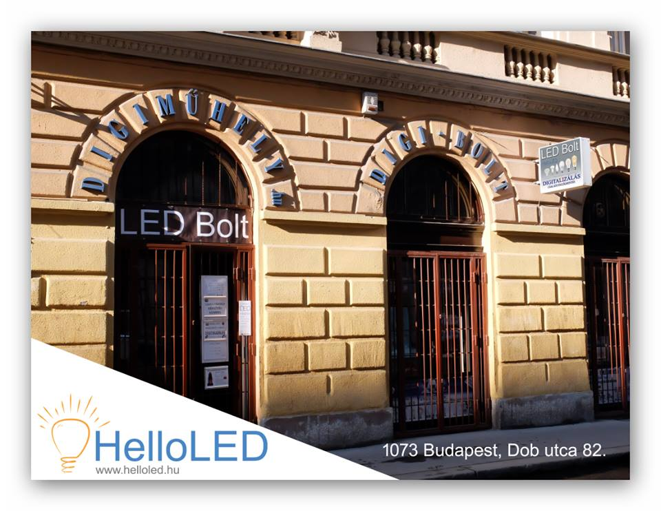 HelloLED, LED Bolt a Dob utcában