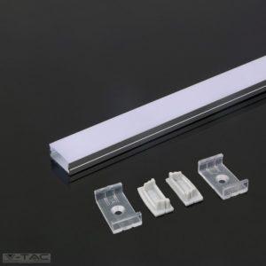 www.helloled.hu V-Tac Alumínium profil 2 méter tejfehér fedlappal - 3352