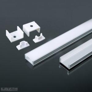www.helloled.hu V-Tac Alumínium profil 2 méter tejfehér fedlappal - 3355