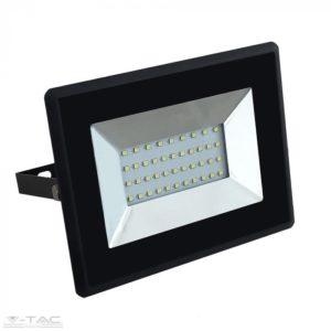 www.helloled.hu V-Tac 30W LED reflektor E-széria fekete 6400K - 5954