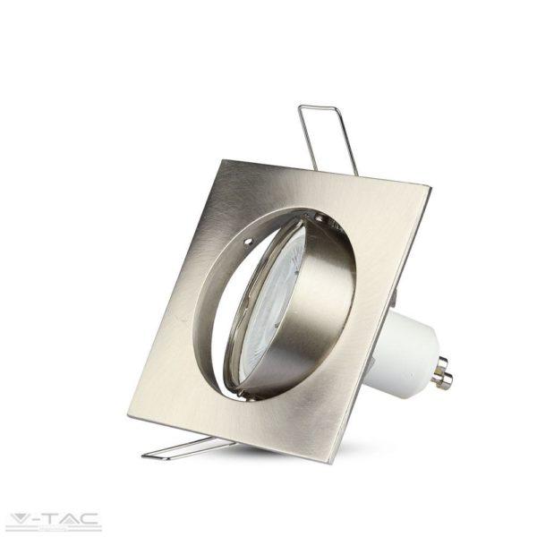 GU10 billenthető beépítőkeret szögletes nikkel - 3591