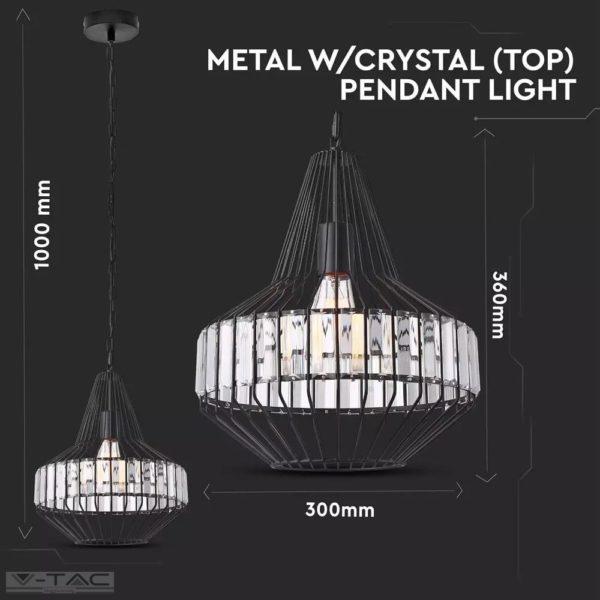 Fém medál lámpa-1, E27 foglalattal - 3955