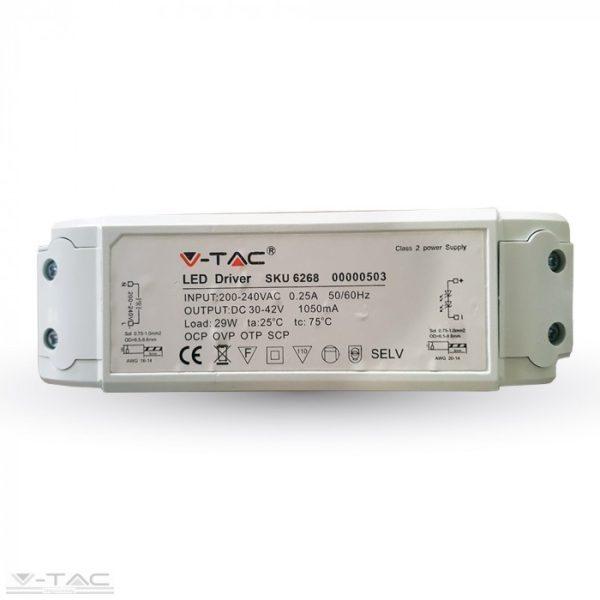 29W-os dimmelhető tápegység A++ LED panelhez 5év garancia - 6268