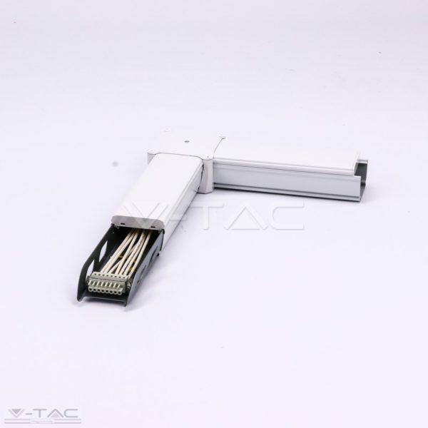www.helloled.hu V-Tac L toldó LED lineár lámpatesthez (8 eres) - 1383