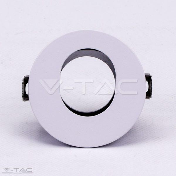 www.helloled.hu V-Tac GU10 kör beépítőkeret fehér/fekete - 3161