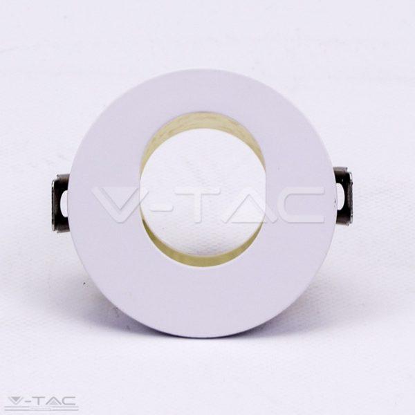 www.helloled.hu V-Tac GU10 kör beépítőkeret fehér/arany - 3162