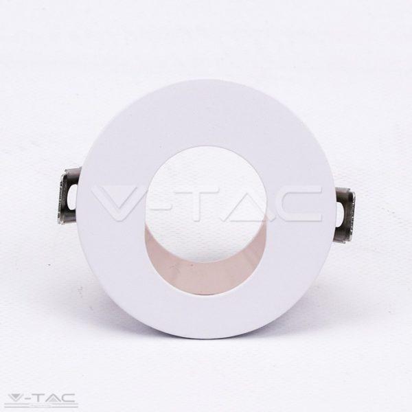 www.helloled.hu V-Tac GU10 kör beépítőkeret fehér/réz - 3163