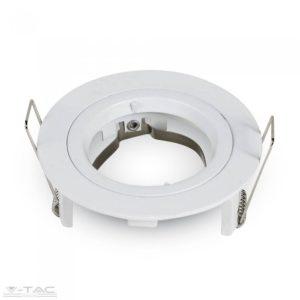 www.helloled.hu V-Tac GU10 beépítőkeret fehér kör - 3642