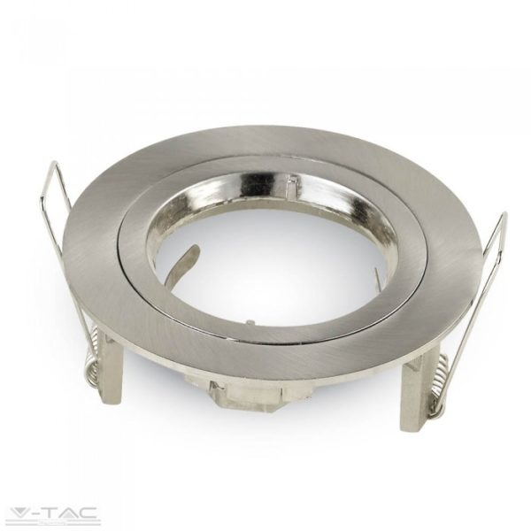 www.helloled.hu V-Tac GU10 beépítőkeret nikkel kör - 3643