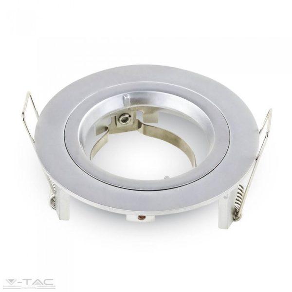 www.helloled.hu V-Tac GU10 beépítõkeret ezüst szürke kör - 3644