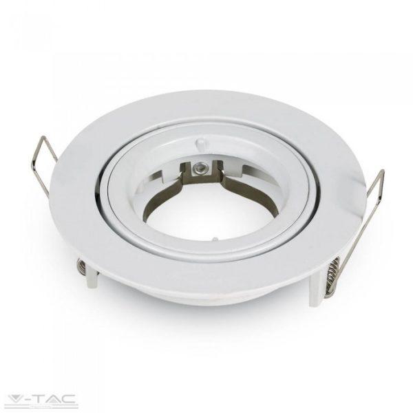 www.helloled.hu V-Tac GU10 beépítőkeret fehér kör - 3645