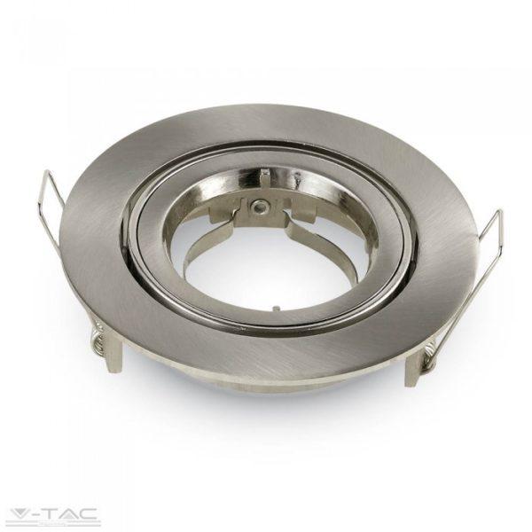 www.helloled.hu V-Tac GU10 beépítőkeret nikkel kör - 3646