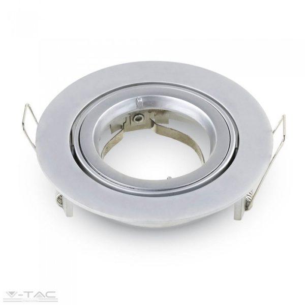 www.helloled.hu V-Tac GU10 beépítőkeret ezüst szürke kör - 3647