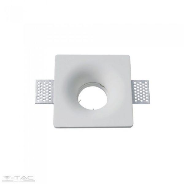 www.helloled.hu V-Tac GU10 beépítőkeret fehér gipsz négyszög - 3696