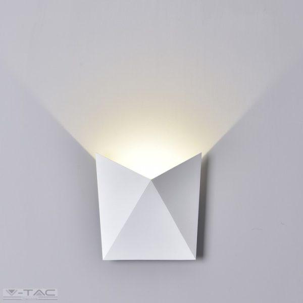 www.helloled.hu V-Tac 5W Beltéri szögletes fehér fali lámpa 3000K - 8280