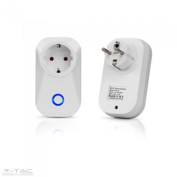 www.helloled.hu V-Tac Wifis smart konnektor fehér - 8415