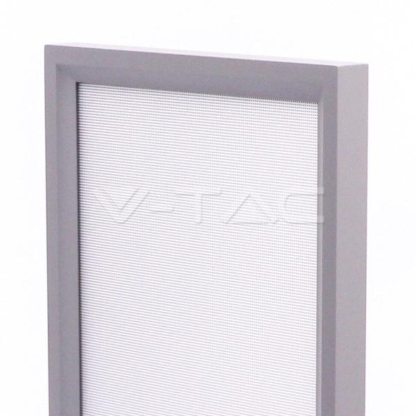 80W Exkluzív irodai LED állólámpa, dimmelhető, le/föl irány, ezüst 4000K - 8521