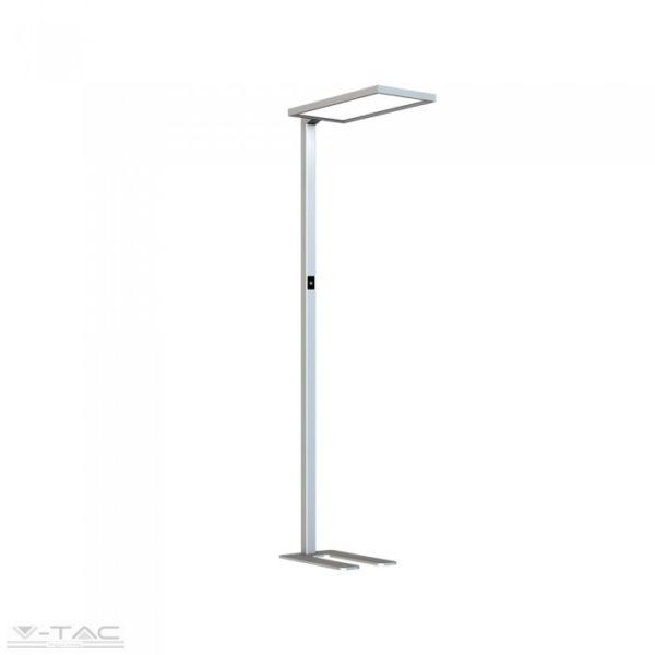 www.helloled.hu V-Tac 80W Exkluzív irodai LED állólámpa dimmelhető ezüst 4000K - 8521