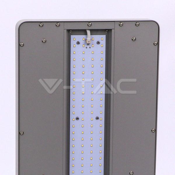 80W Exkluzív irodai LED állólámpa, dimmelhető, le/föl irány, ezüst 4000K - 8523