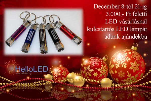 Ajándék LED lámpa 3.000,- Ft feletti rendelésnél