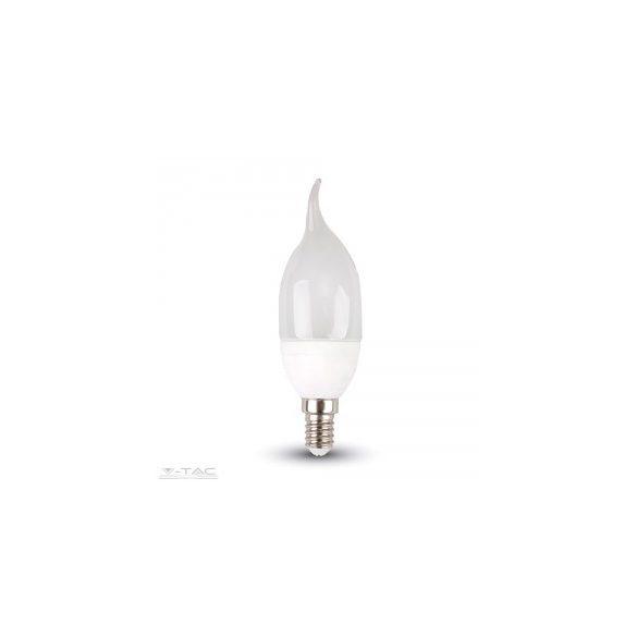 www.helloled.hu V-Tac 4W LED izzó E14 gyertyaláng Napfény fehér - 4156