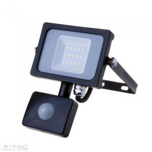 www.helloled.hu V-Tac 10W Mozgásérzékelõs LED reflektor fekete IP65