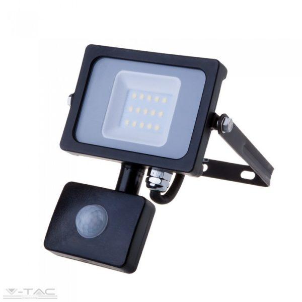 www.helloled.hu V-Tac 20W Mozgásérzékelõs LED reflektor fekete IP65