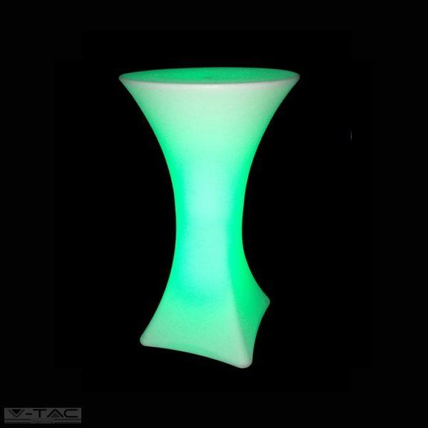 RGB LED-es kerti bárasztal fehér IP54 - 40261
