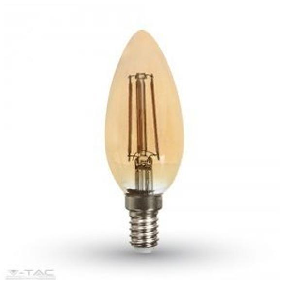 Retro LED izzó – 4W E14 Filament szabadalmi borostyán burkolat 2200K – 4462
