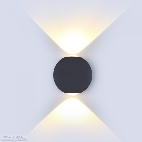 6W LED design gömb fali lámpa fekete IP65 -8303-8304-8305