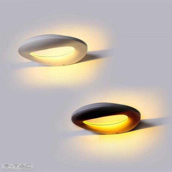 10W LED Design fali lámpa fekete 3000K IP65 - 8309