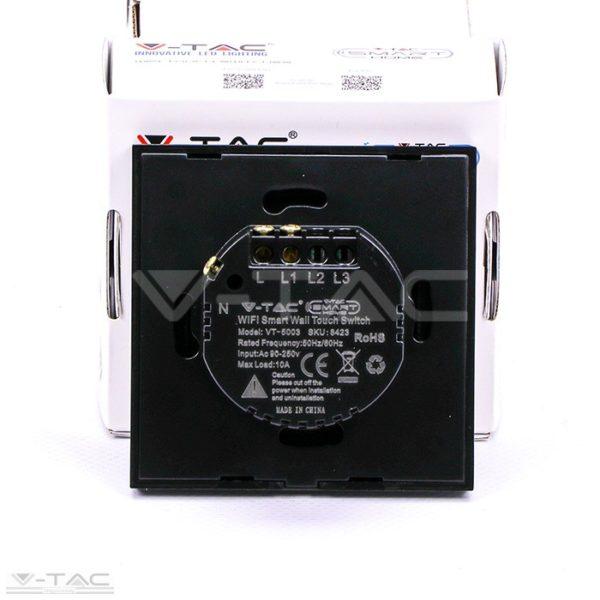 Wifis smart kapcsoló fekete - 8423