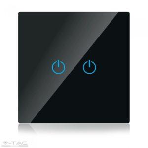 Wifis smart kapcsoló dupla fekete - 8424