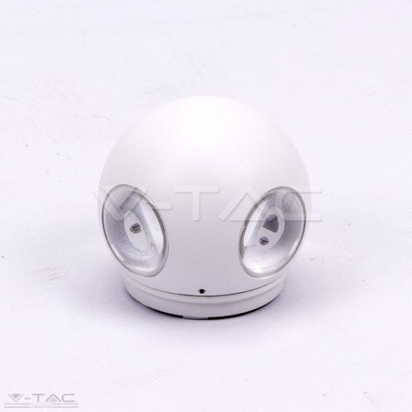 4W LED design gömb fali lámpa fehér IP65