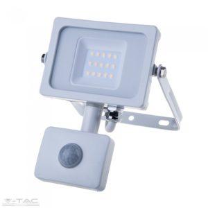 10W Mozgásérzékelős LED reflektor fehér IP65 6400K - PRO435