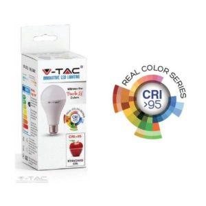 12W LED izzó CRI>95 E27 A60 4000K - 7483