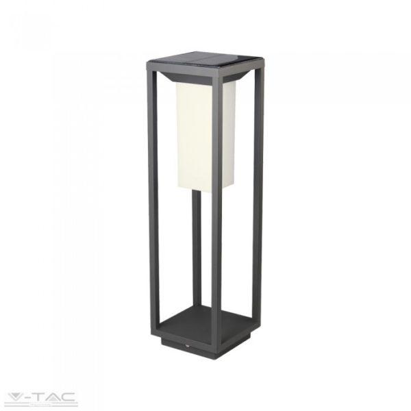 2W LED napelemes alkonykapcsolós álló lámpatest beépített mozgásérzékelővel 3000K - PRO785