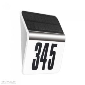 0,1W LED napelemes fehér házszám tábla Samsung chip 3000K - PRO786