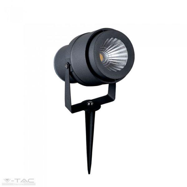 12W LED kerti tüske fekete, zöld fény - 7546