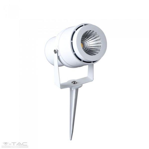 12W LED kerti tüske fehér, zöld fény - 7549