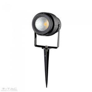 12W LED kerti tüske szürke, zöld fény - 7552