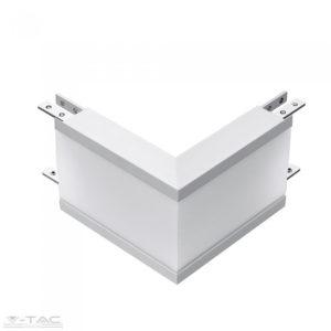 Külső sarok toldó süllyeszthető lineár lámpatesthez ezüst VT-7-41-L - PRO390