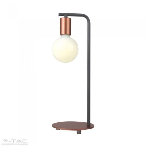 Bronz design asztali lámpa E27 foglalattal - 40331