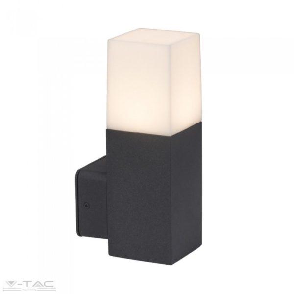 GU10 foglalattal ellátott fekete négyszög fali lámpa IP54 - 7563