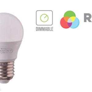 3,5W LED izzó E27 G45 RGB+WW 3000K - 2772