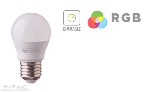 3,5W LED izzó E27 G45 RGB+DW 4000K - 2773