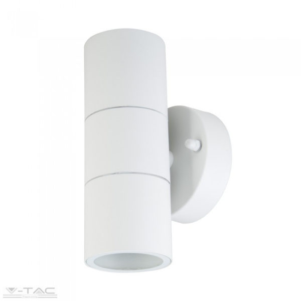 Fehér két állású fali lámpatest GU10 foglalattal IP44 - 7570